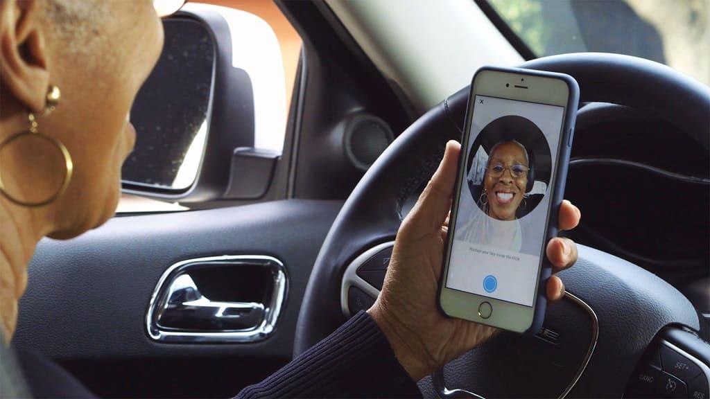 Uber селфи