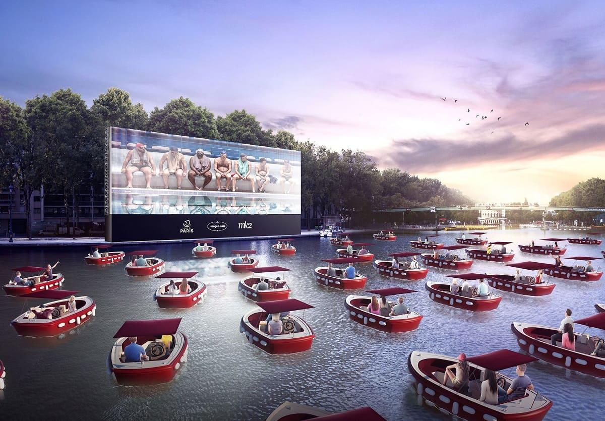 кинотеатра на воде в Париже